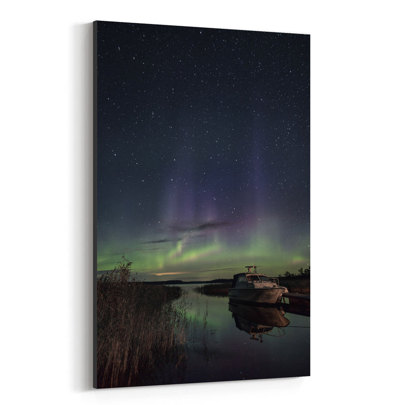 Northern Lights Finland Aurora Canvas Art Print