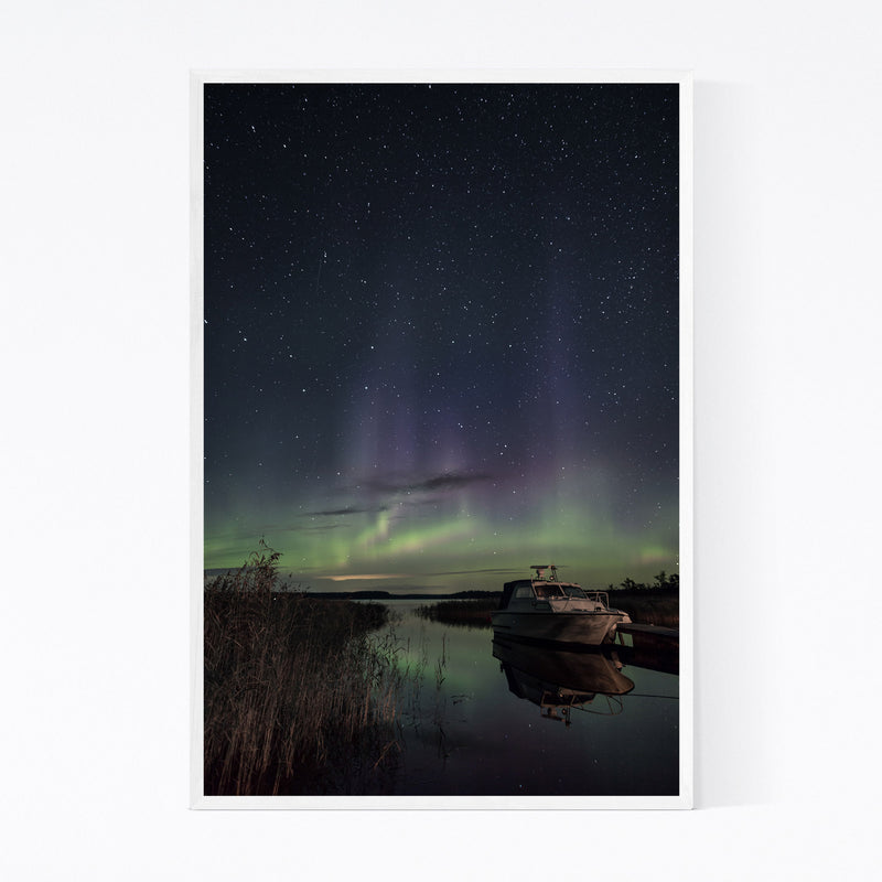 Northern Lights Finland Aurora Framed Art Print