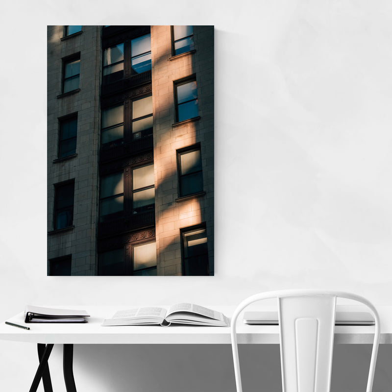 Baltimore Architecture Details Metal Art Print