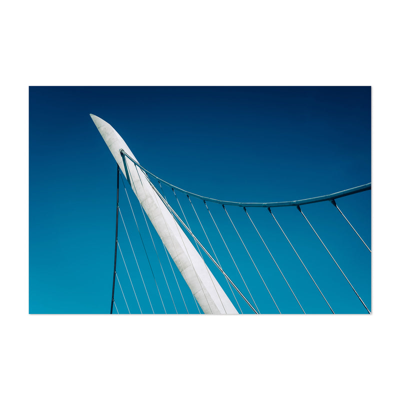 Abstract Modern City Bridge Art Print