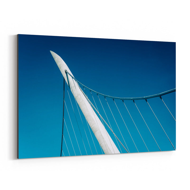 Abstract Modern City Bridge Canvas Art Print