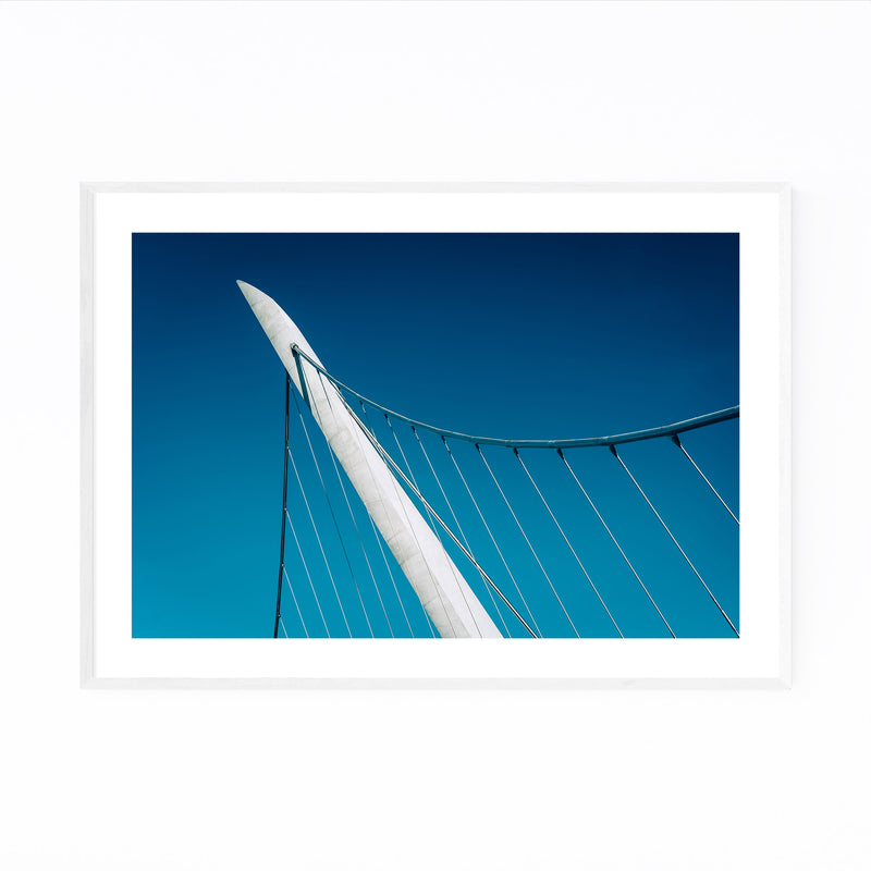 Abstract Modern City Bridge Framed Art Print