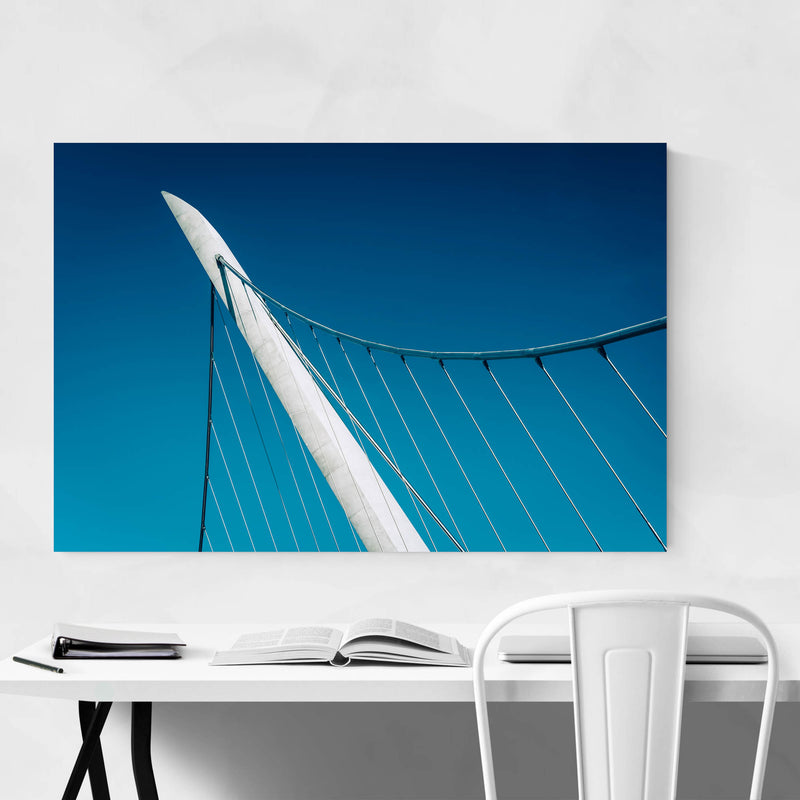 Abstract Modern City Bridge Metal Art Print