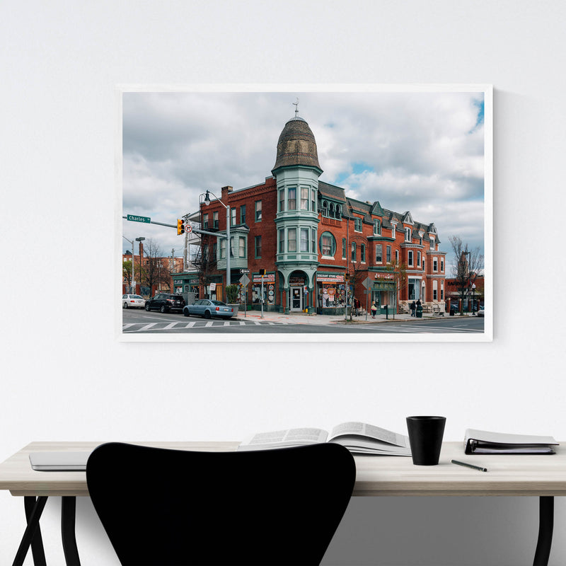 Baltimore Charles Village Framed Art Print