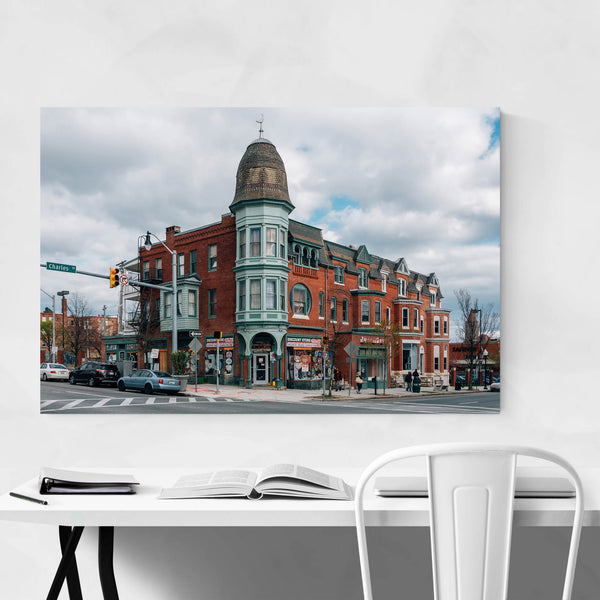 Baltimore Charles Village Art Print