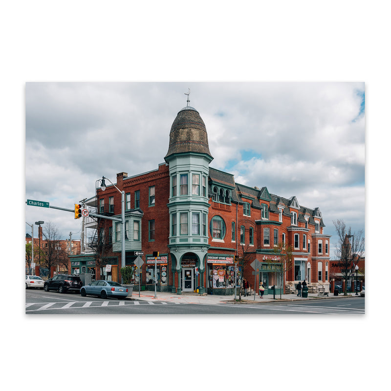Baltimore Charles Village Metal Art Print