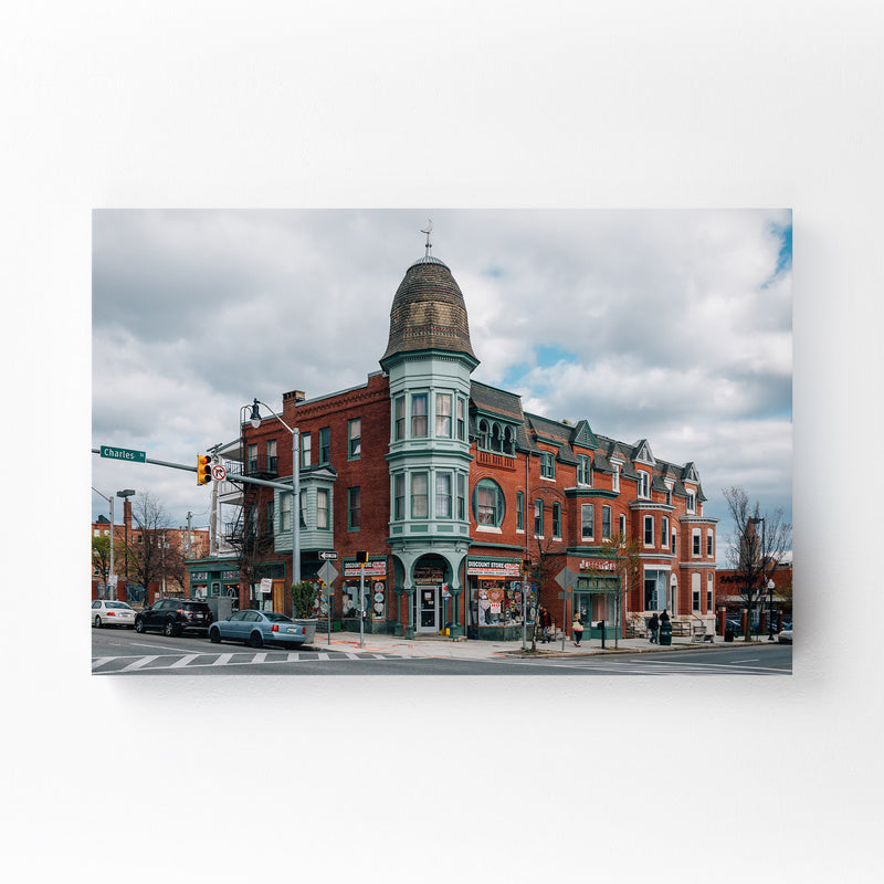 Baltimore Charles Village Mounted Art Print