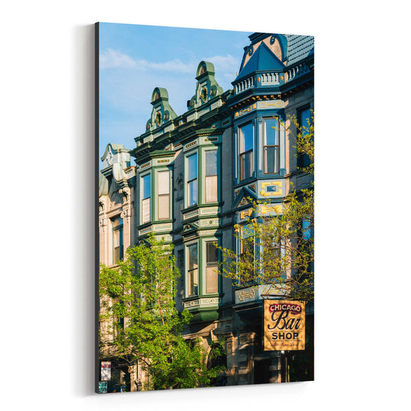 Chicago Lincoln Park Buildings Canvas Art Print