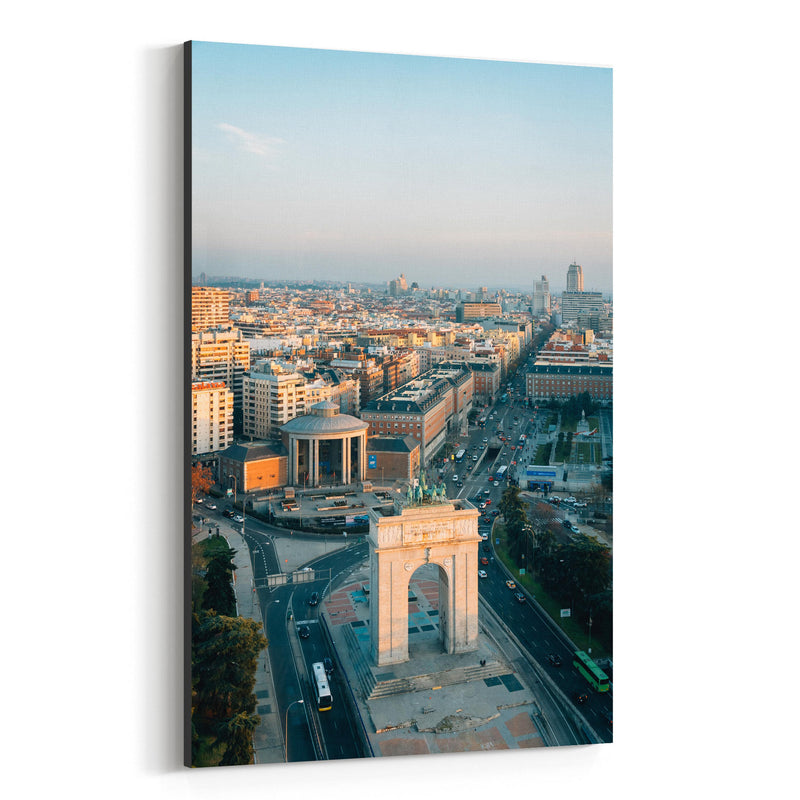 Madrid Spain Cityscape Arch View Canvas Art Print