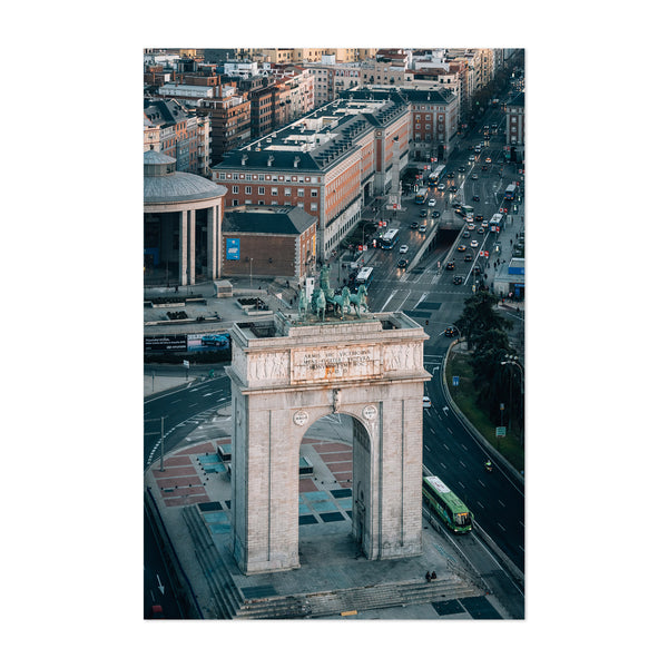Madrid Spain Cityscape Arch View Art Print