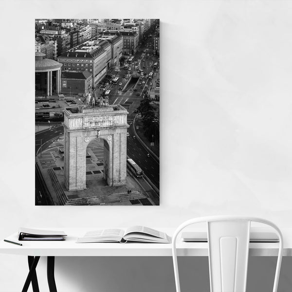 Black & White Madrid Spain City Art Print