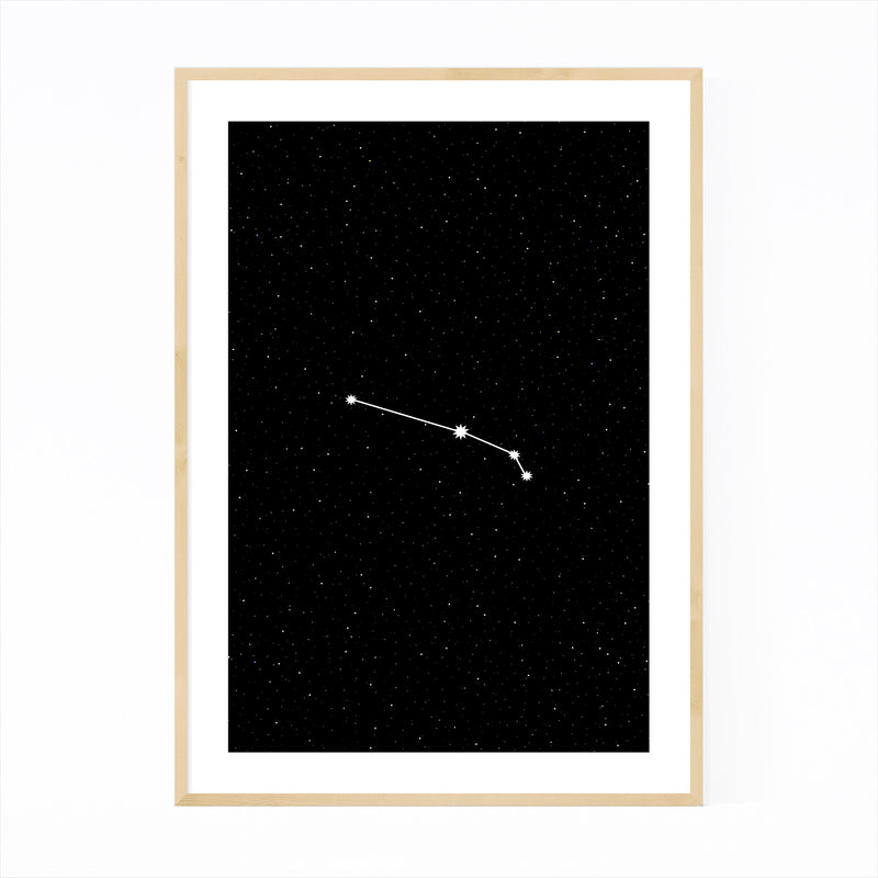 Night Sky Aries Astrology Zodiac Framed Art Print