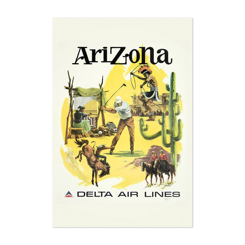 Arizona Vintage Travel Poster  Art Print