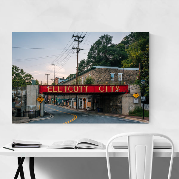 Ellicott City Maryland Sign Art Print