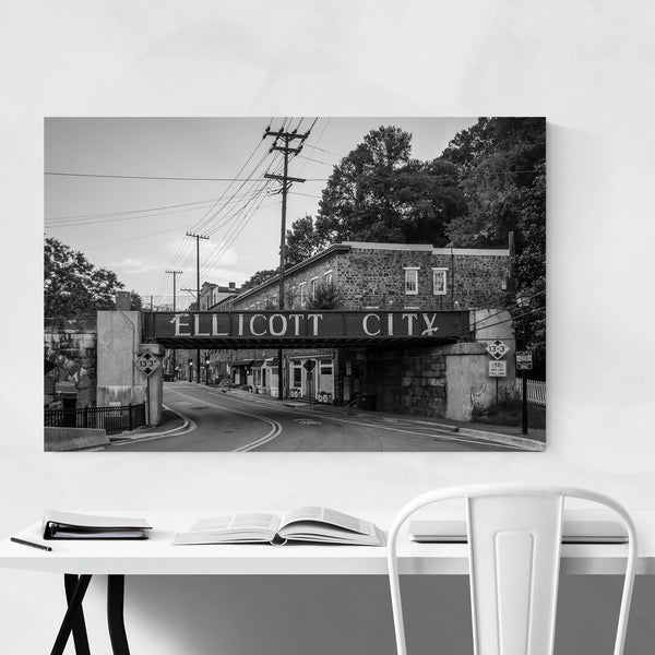 Black & White Ellicott City MD Art Print