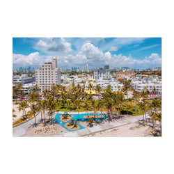 South Beach Miami Florida Aerial Art Print