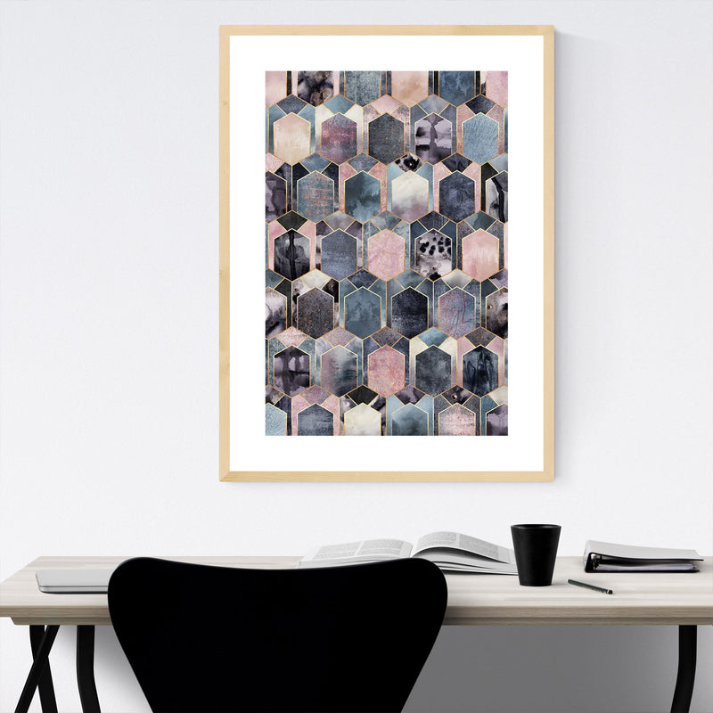 Geometric Abstract Art Deco Framed Art Print