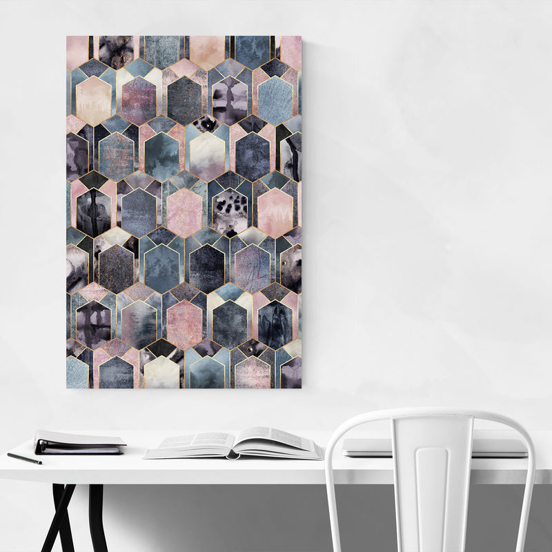 Geometric Abstract Art Deco Canvas Art Print