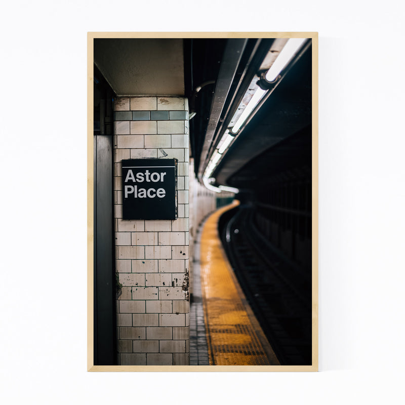 New York City Subway Astor Place Framed Art Print