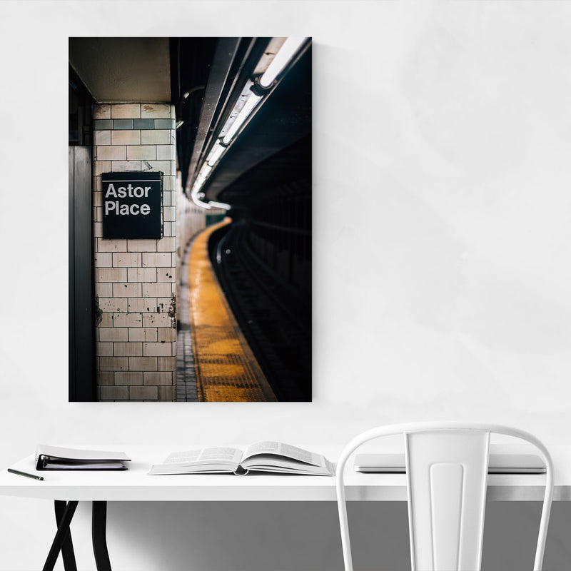 New York City Subway Astor Place Metal Art Print