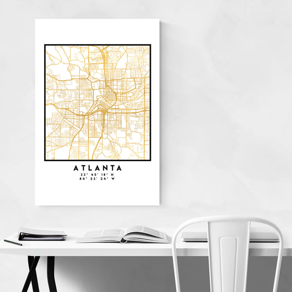 Minimal Atlanta City Map Art Print