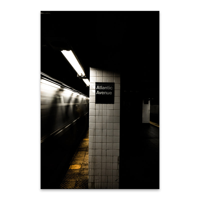 Brooklyn Atlantic Avenue Subway Metal Art Print