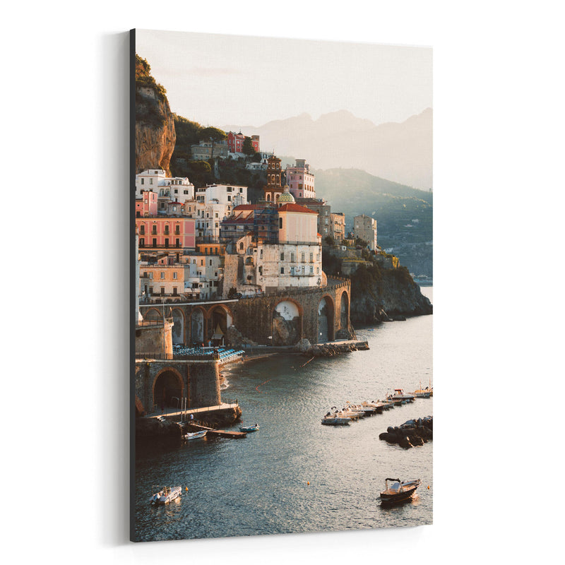 Atrani Amalfi Coast Italy Beach Canvas Art Print