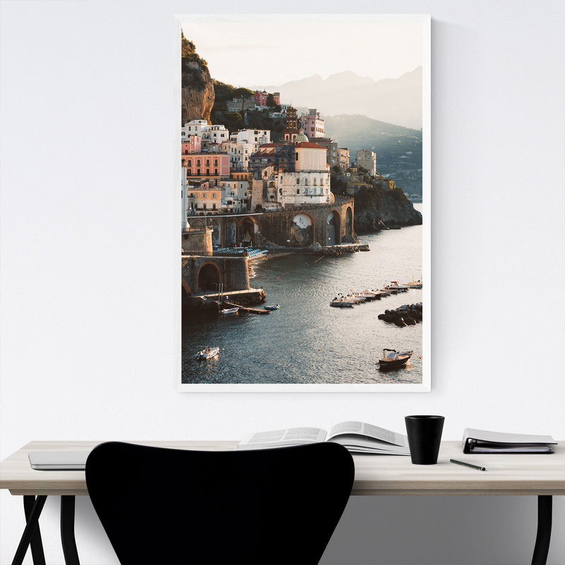 Atrani Amalfi Coast Italy Beach Framed Art Print