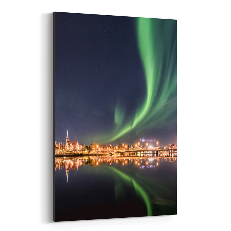 Aurora Borealis Northern Lights Canvas Art Print