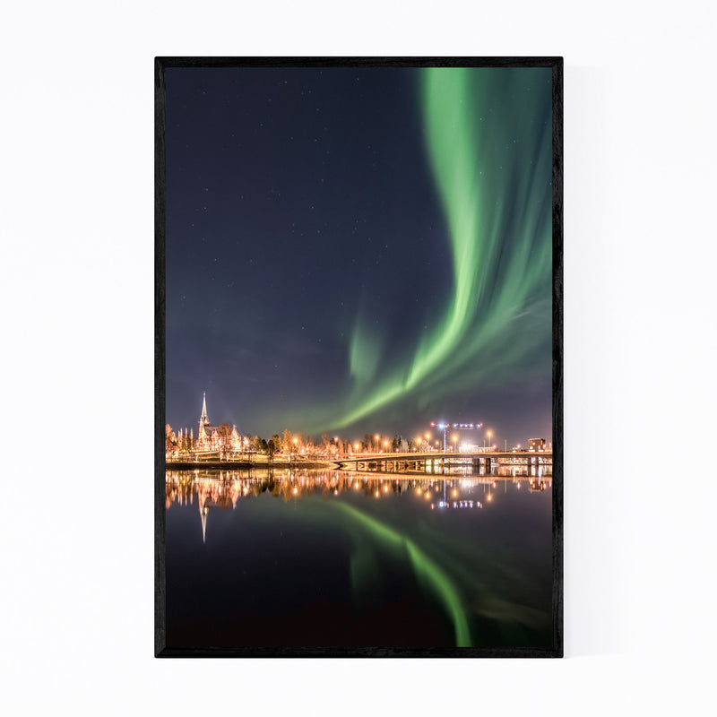 Aurora Borealis Northern Lights Framed Art Print
