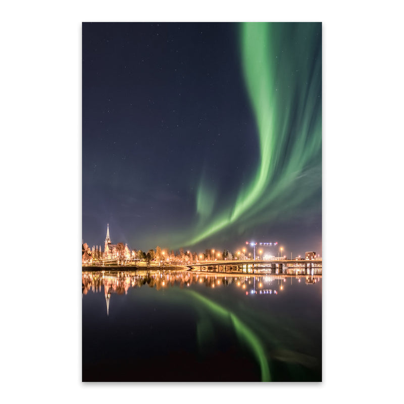 Aurora Borealis Northern Lights Metal Art Print