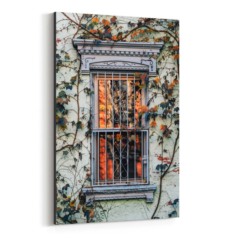 Fall Autumn Leaves Vines Color Canvas Art Print