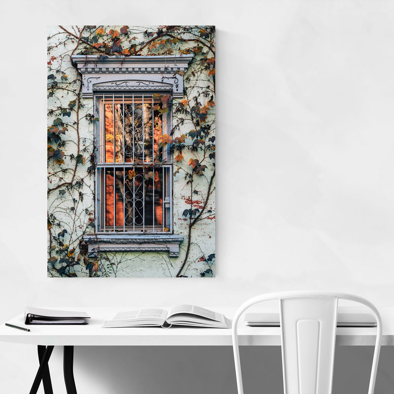 Fall Autumn Leaves Vines Color Metal Art Print