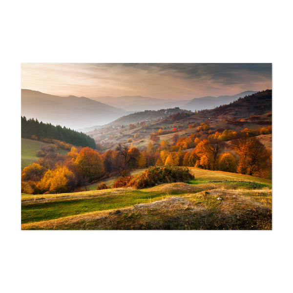 Bulgaria Autumn Landscape Nature Art Print
