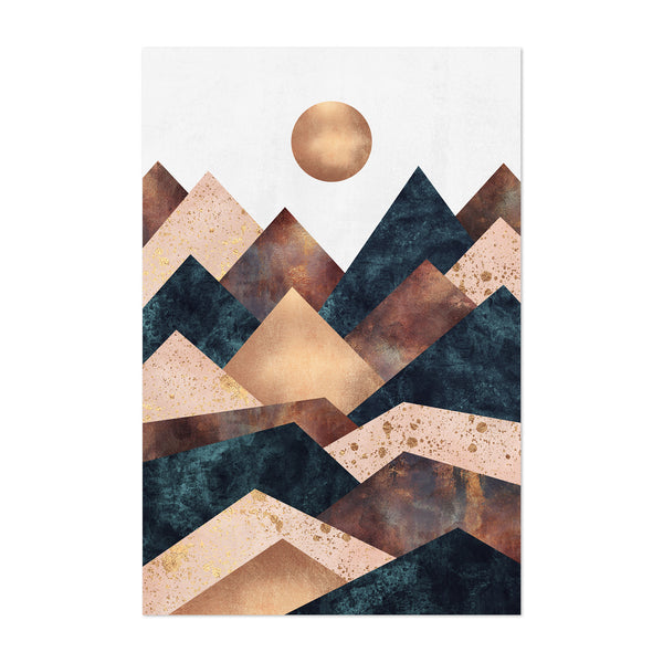 Fall Mountain Geometric Abstract Art Print