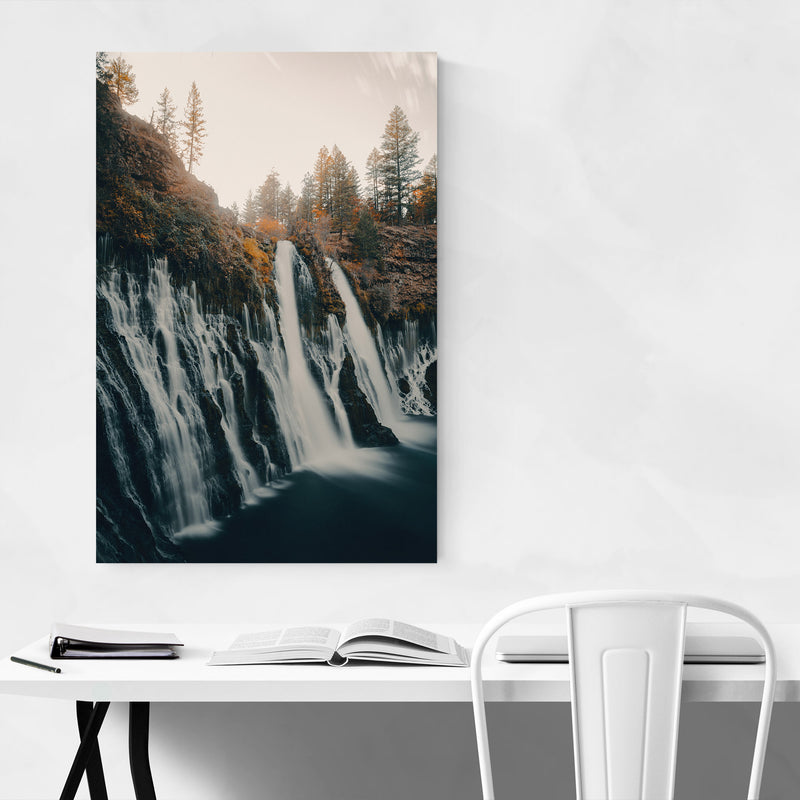 Sweden Landscape Nature Waterfall Canvas Art Print