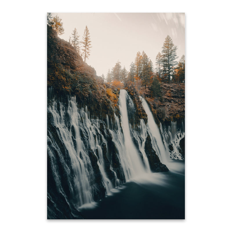 Sweden Landscape Nature Waterfall Metal Art Print