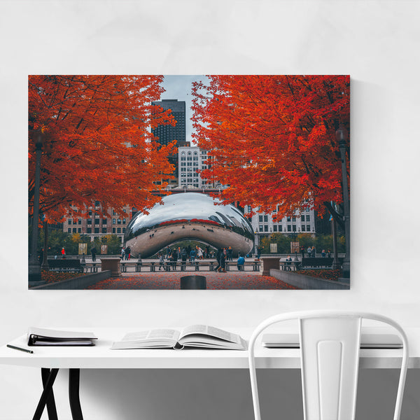 The Bean Autumn Chicago Illinois Art Print
