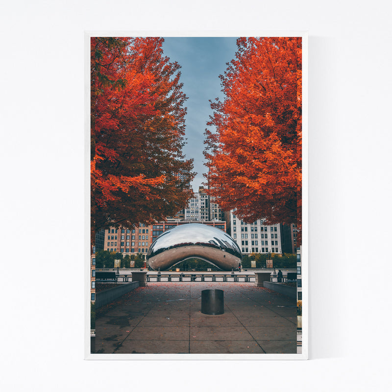 The Bean Autumn Chicago Illinois Framed Art Print