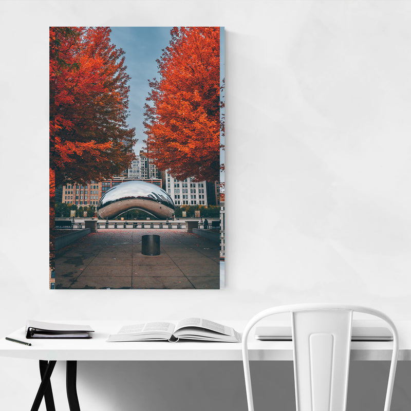 The Bean Autumn Chicago Illinois Canvas Art Print