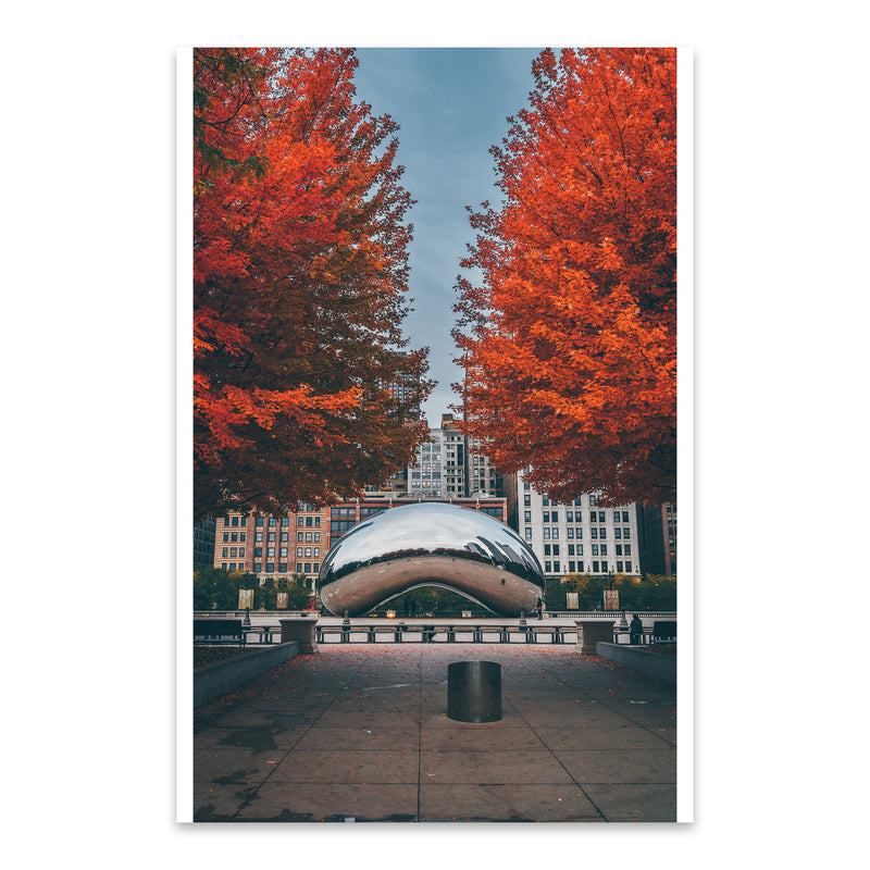 The Bean Autumn Chicago Illinois Metal Art Print