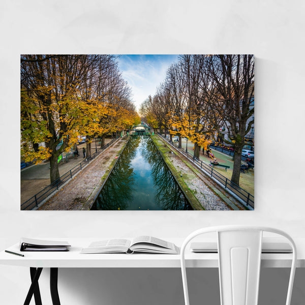 Paris Canal Saint-Martin Autumn Art Print