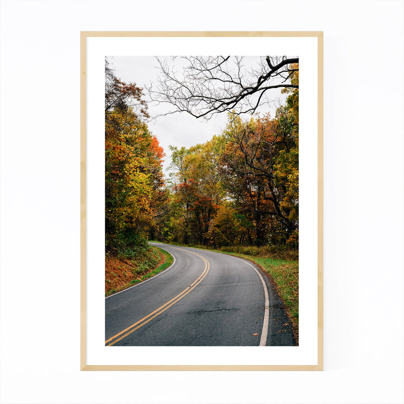 Shenandoah Skyline Drive Autumn Framed Art Print