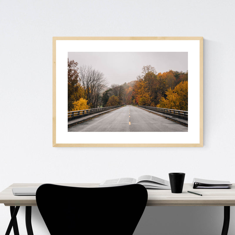 Virginia Blue Ridge Parkway Fall Framed Art Print