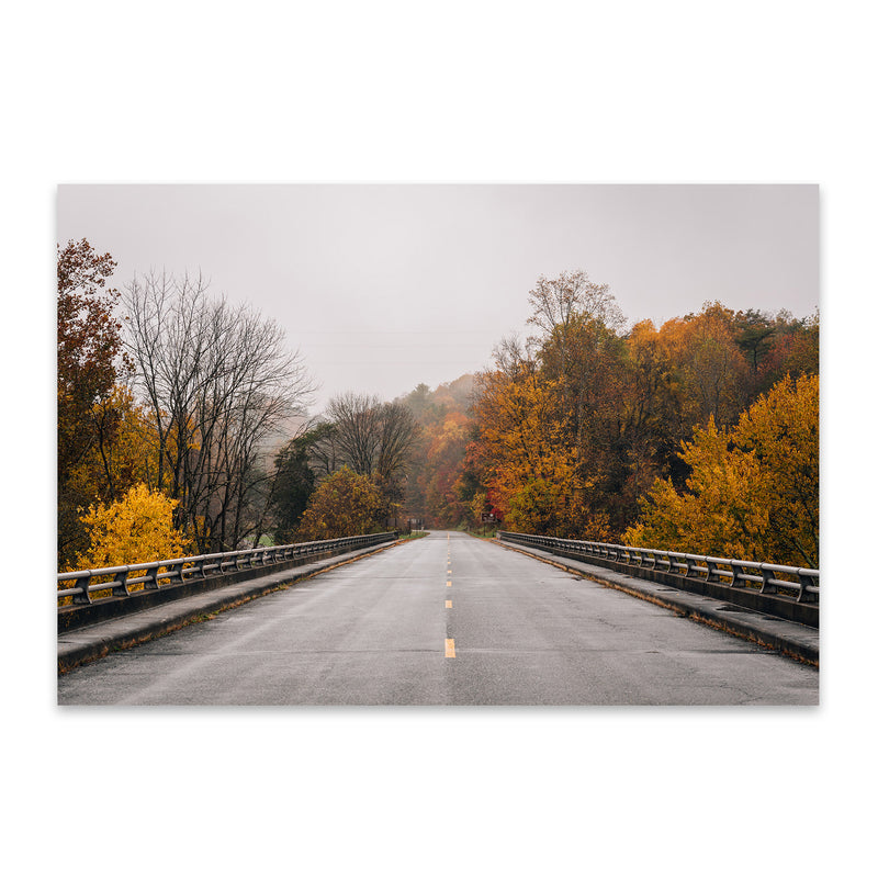 Virginia Blue Ridge Parkway Fall Metal Art Print