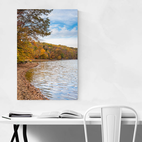 Fall Autumn Color on Lake Nature Art Print