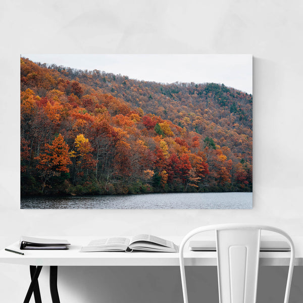 Virginia Autumn Sherando Lake Art Print