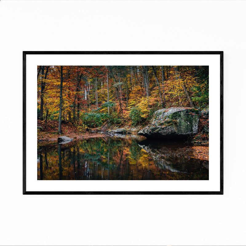 Virginia Blue Ridge Autumn Fall Framed Art Print