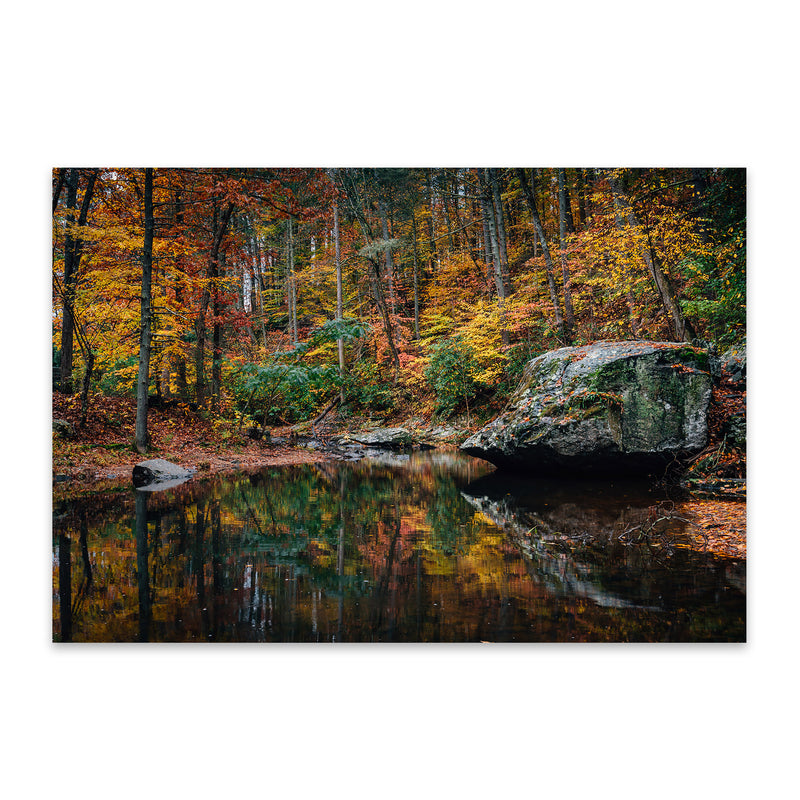 Virginia Blue Ridge Autumn Fall Metal Art Print