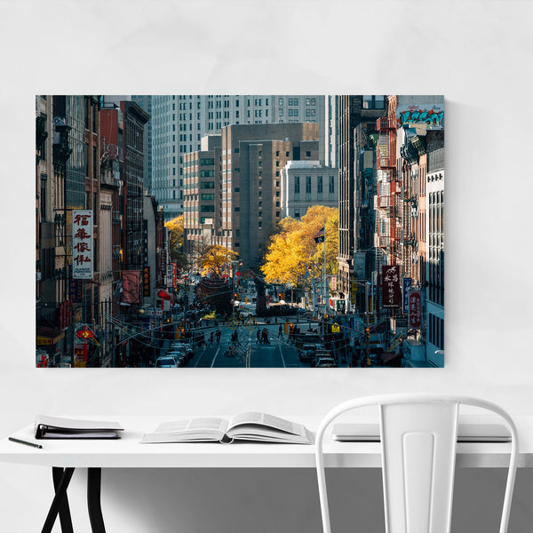 Chinatown Autumn New York City Art Print
